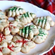 Cream Cheese Spritz Cookie Recipe | Holiday Cookies | TodaysCreativeLife.com