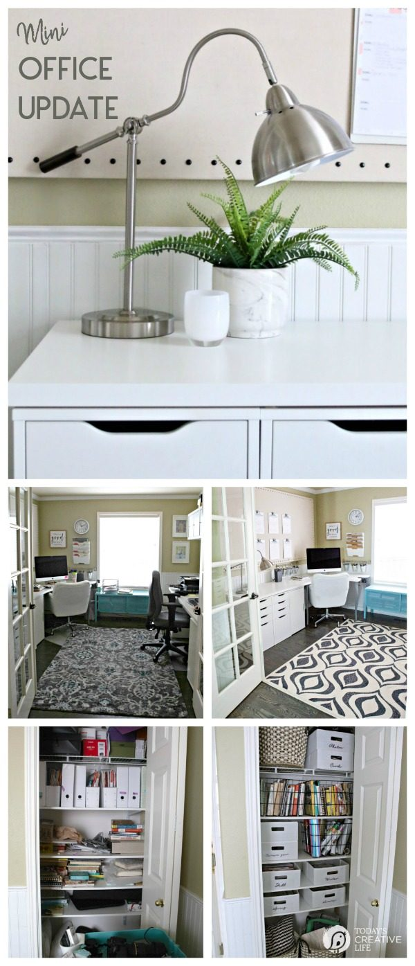 Mini Budget Friendly Office Update | Create a stylish look as well as inexpensive storage solutions. #BHGLivebetter #Ad TodaysCreativeLife.com