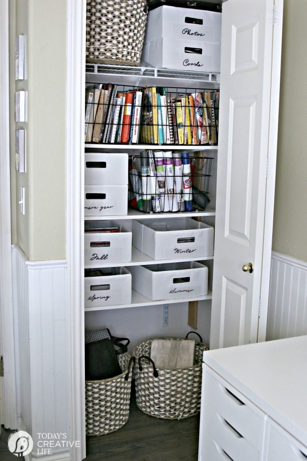 Office Makeover Closet Makeover AFTER