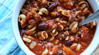Copy Cat Slow Cooker Pasta Fagioli Soup