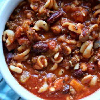 Crockpot Pasta e Fagioli Soup | TodaysCreativeLife.com