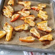 Cheesy Sweet Pepper Poppers