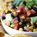 Black Bean and Corn Salsa with Avocado Recipe | Party Food | Dip Recipes | TodaysCreativeLife.com