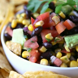 Black Bean and Corn Salsa with Avocado Recipe | Party Food | Dip Recipes | TodaysCreativeLife.com