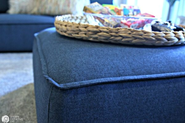 Tweed like Furniture for Finished Basements | TodaysCreativeLife,com