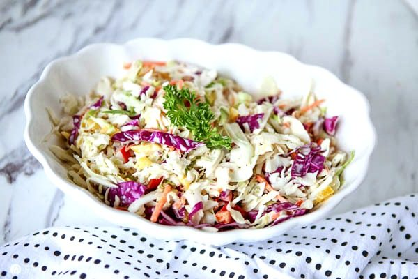 Zesty Coleslaw Salad Recipe | Spring and Summer Salad Recipe | TodaysCreativeLife.com