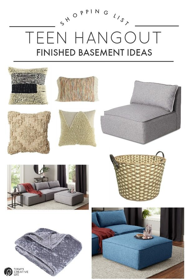 Shopping List for a Finished Basement Teen Hangout | TodaysCreativeLife. #BHGLiveBetter