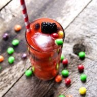 Taste the Rainbow Cocktail | Fruity Drink perfect for spring, summer or St. Patricks Day | TodaysCreativeLife.com
