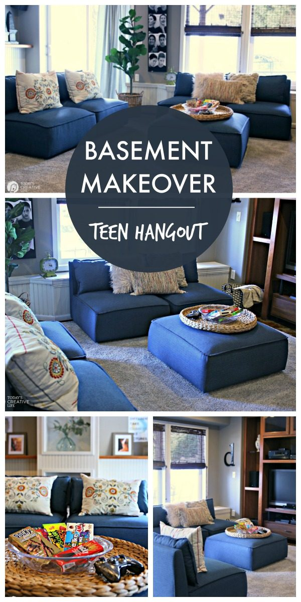Finished Basement Decorating Ideas for Teens | Furniture Ideas for your Finished Basement | How to decorate your basement | budget decor ideas | Room Decor for Teens | TodaysCreativeLife #ad #BHGLiveBetter
