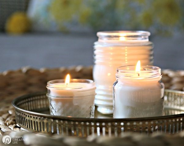 How to Make Natural Non-Toxic Candles | Made with soy wax, no lead wick and essential oils | TodaysCreativeLife.com