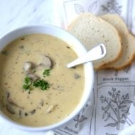 Homemade Cream of Mushroom Soup Recipe
