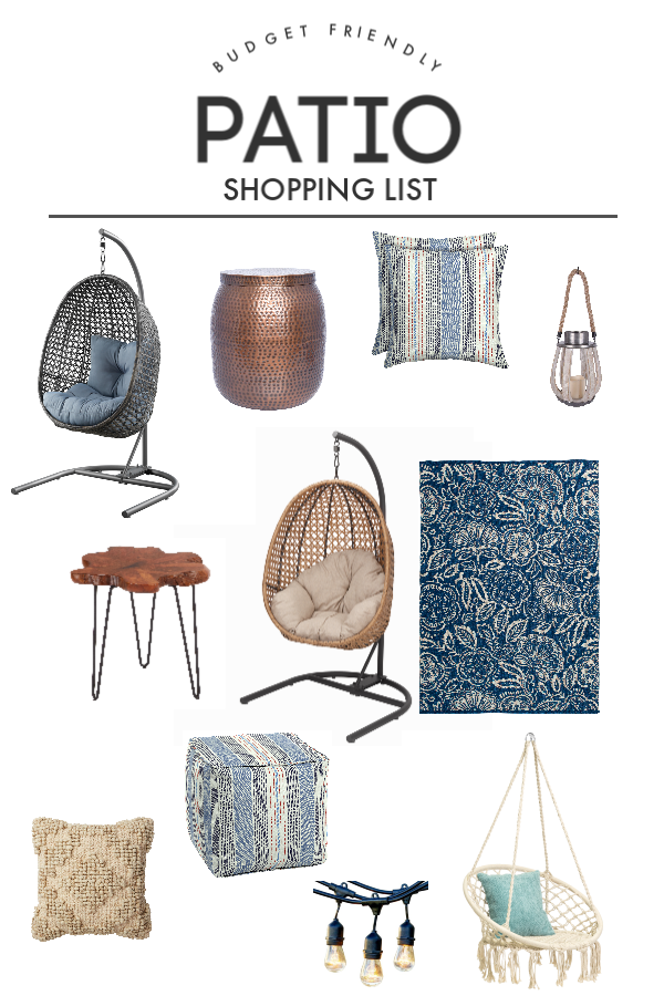Decorating for Spring Patio Shopping List | Budget-Friendly | todayscreativelife.com