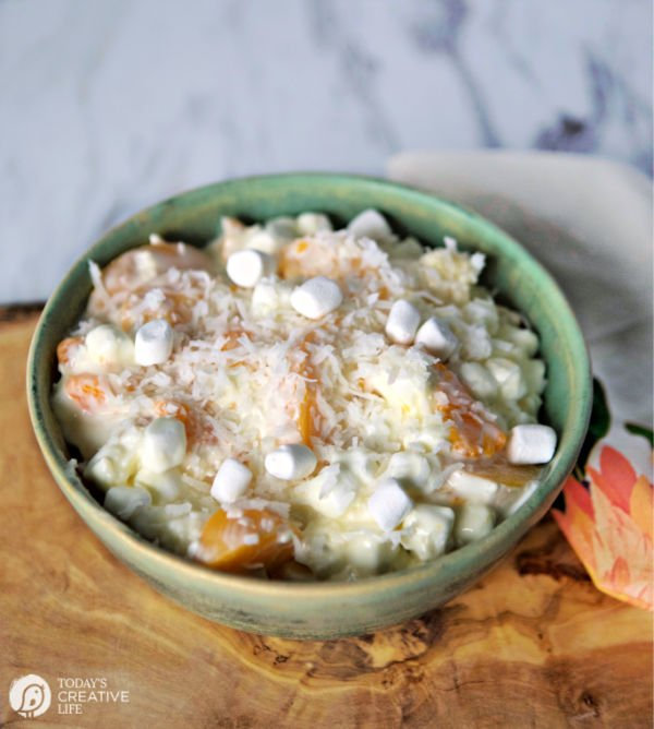 Coconut Creamy Mandarin Salad | todayscreativelife.com