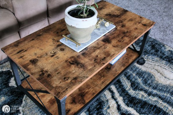 Budget Friendly Coffee Table Ideas | Wood and Metal | TodaysCreativeLife.com