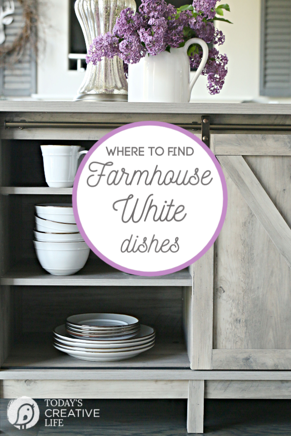 Farmhouse White Dishes | Better Homes and Gardens | AD | TodaysCreativeLife.com #BHGLivebetter