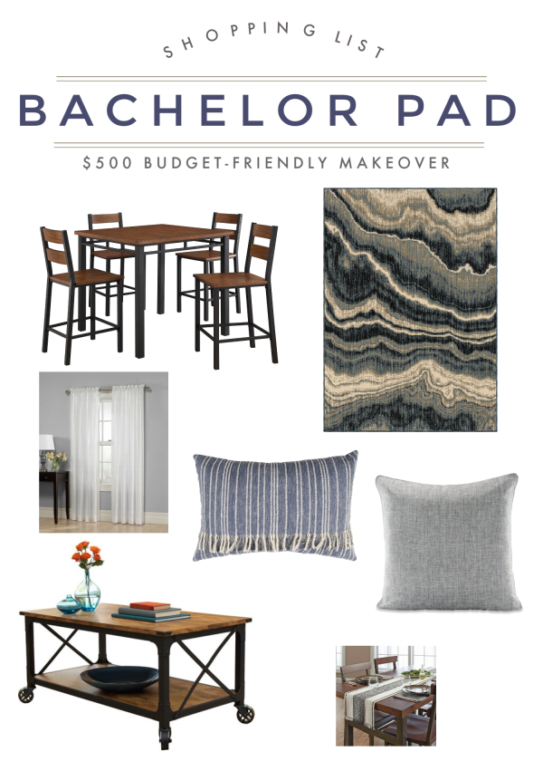 Bachelor Pad Shopping List | Budget-Friendly