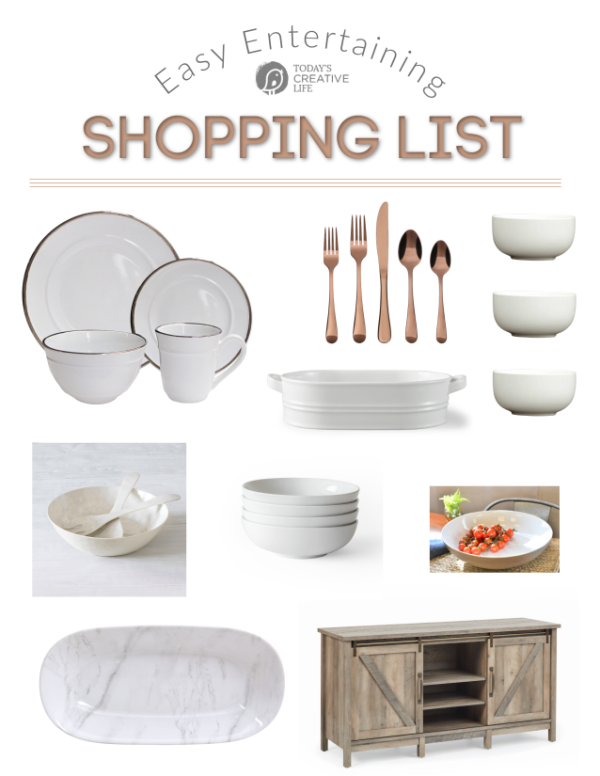 Where to Find White Serve ware for Entertaining | TodaysCreativeLife.com