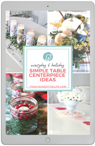 Simple Table Centerpiece Ideas Book