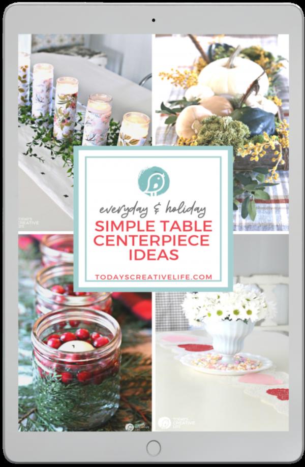 Simple Table Centerpiece Ideas Book