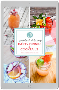 Party Drinks & Cocktails recipe book