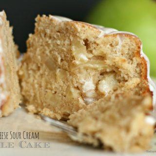 Cream Cheese & Sour Cream Apple Cake