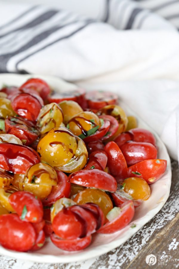 Tomato Salad with Buttermilk Vinaigrette Recipe | TodaysCreativeLife.com