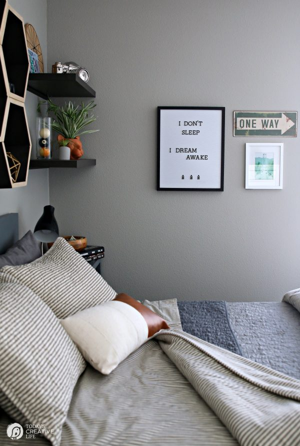 Pillow Ticking Fabric Bedding | Striped bedding | todayscreativelife.com