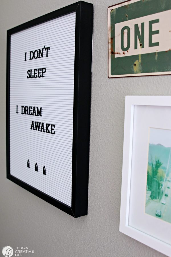 Wall Decor for young man's bedroom