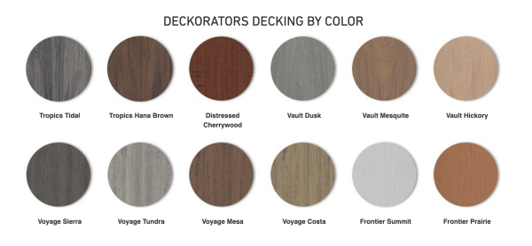 Deckorators Composite Deck Colors