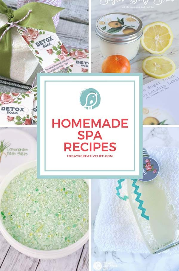 Homemade Spa Recipes ebook cover