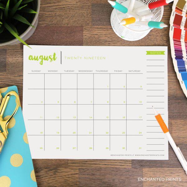 Academic Calendar Printable 2019/20