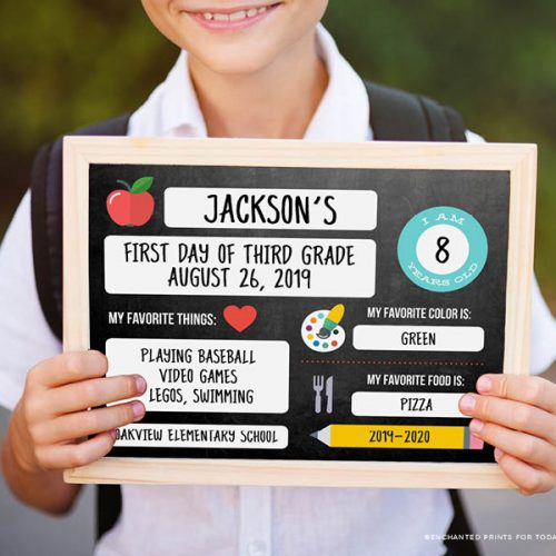 Printable Sign for Back to School