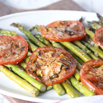 Tomato and asparagus side dish