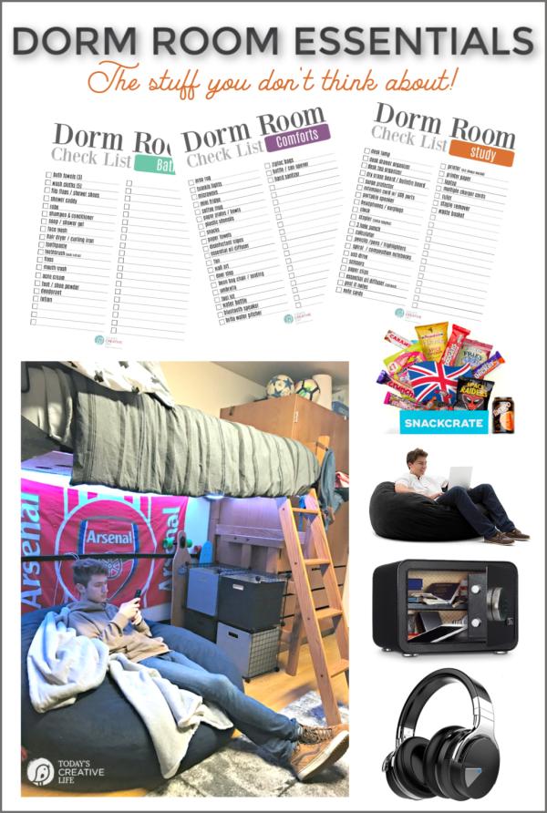 College Dorm Room Packing List | TodaysCreativeLife.com