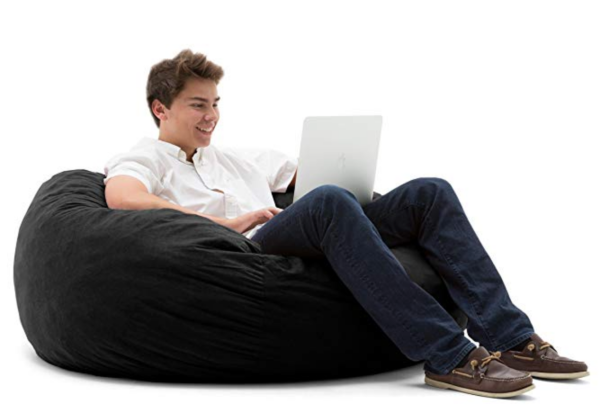Big Bean Bag chair with college student