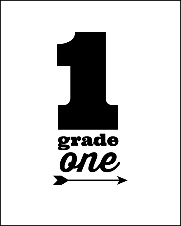 printable grade one first day of photos