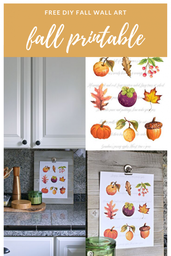 fall clipart on paper