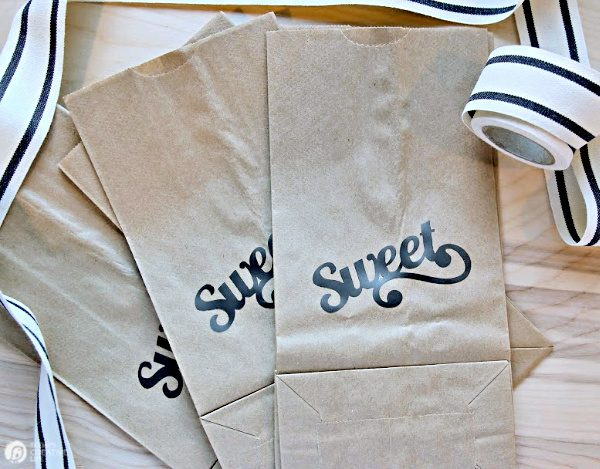 Paper Bags with Sweet written on them