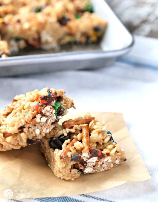 Cereal Bars cut in squares