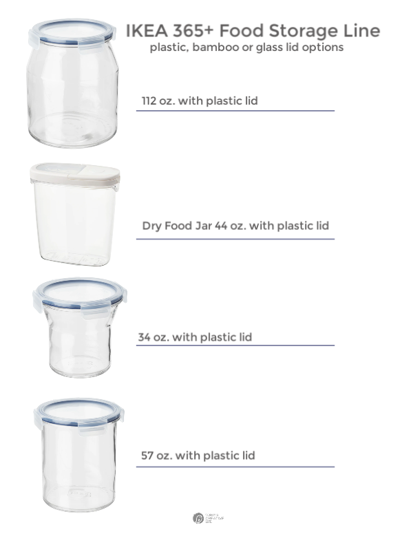 Ikea Food Storage Jar options