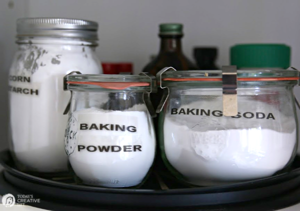 Weck glass jars with baking supplies