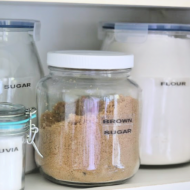 Pantry Jars with Flour and Sugar