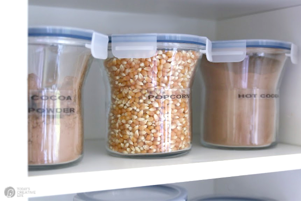 jars with popcorn
