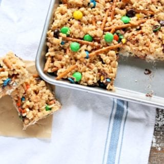 cereal bars in a pan