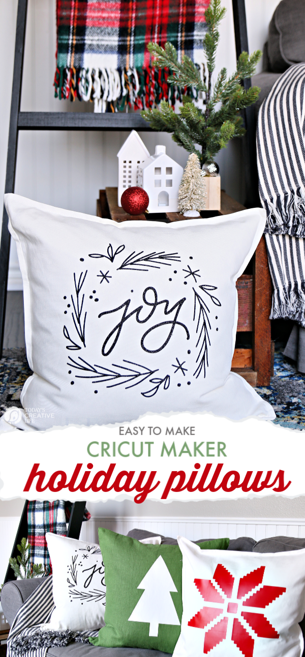 photo collage for Christmas pillows