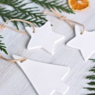 How to Make White Clay Christmas Ornaments
