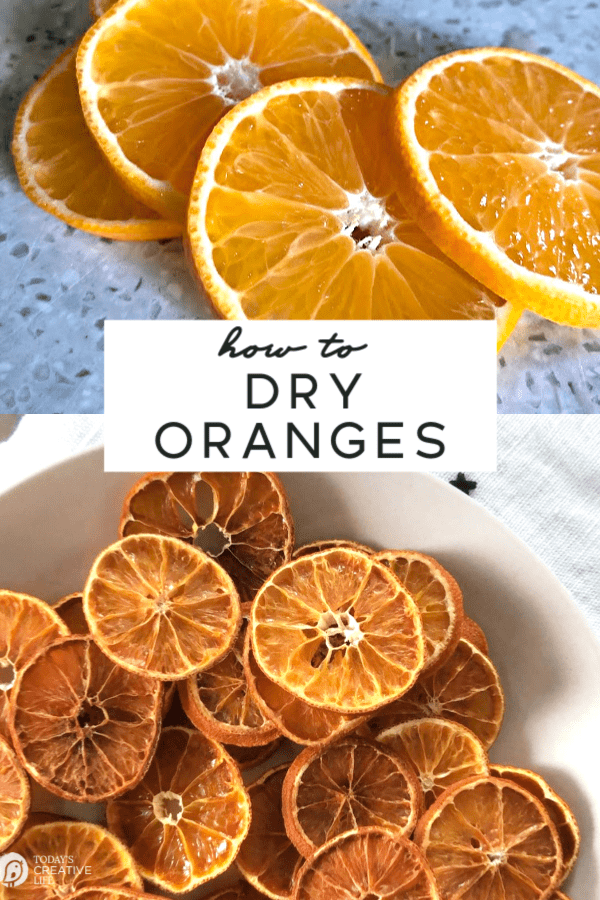 Photo collage with oranges and dried oranges