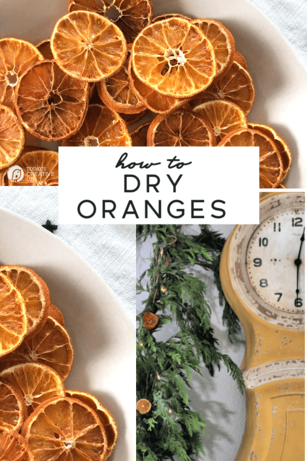 Photo collage of dried orange slices