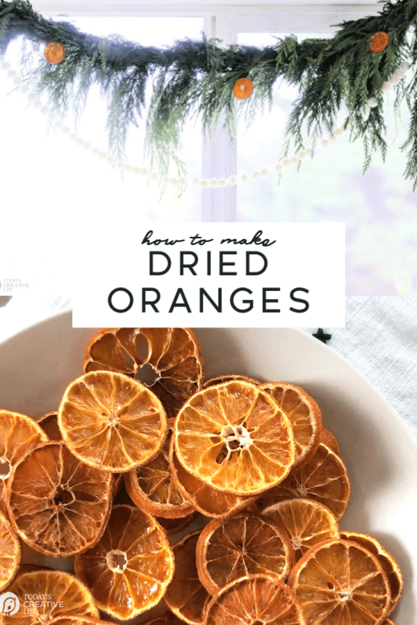 Photo collage with dried orange slices
