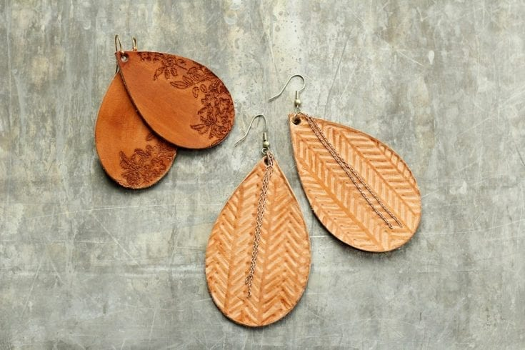 DIY LEATHER EARRINGS USING THE CRICUT MAKERS TOOLS